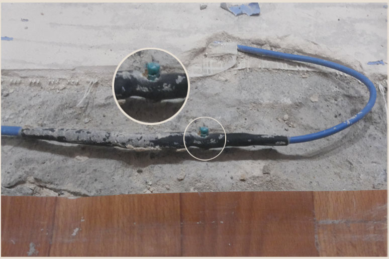 Ремонт теплого электрического пола из-за пробоя муфты