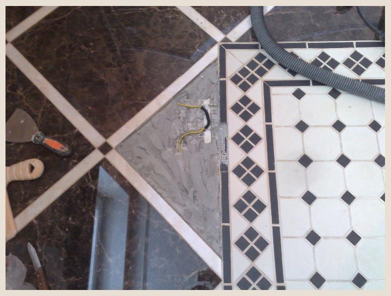 Ремонт теплого пола из за механического повреждения кабеля во время плиточных работ