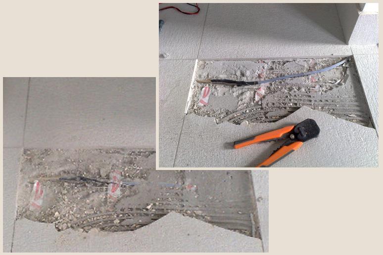Ремонт теплого пола в связи с обрывом кабеля