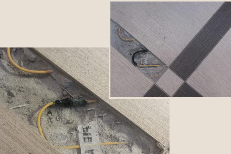 Самостоятельный «ремонт» кабеля плиточником после повреждения.