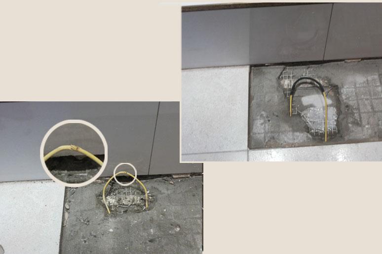 Ремонт кабеля теплого пола в районе дверного проема