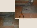 Ремонт теплого пола в саунузле из за повреждения кабеля при мотнаже унитаза