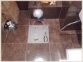 Ремонт теплого пола в санузле из за повреждений при расшивке швов