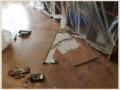 Ремонт теплого пола в гостиной из за обрыва греющего кабеля при расшивке швов инструментом