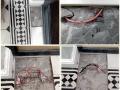Разрыв кабеля при чистке швов