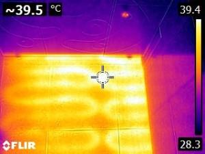 Ошибка укладки кабеля теплого пола - термограмма