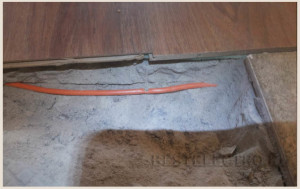 Освобождаем кабель от раствора