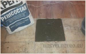Заделка выбоины ремсоставом для бетона